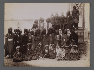 Actors of a Passion Play,  One of 274 Vintage Photographs, late 19th-early 20th century. Albumen silver photograph, 6 1/8 x 8 1/4 in. (15.6 x 21 cm). Brooklyn Museum, Purchase gift of Leona Soudavar in memory of Ahmad Soudavar, 1997.3.231