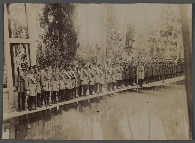 A Royal Audience,  One of 274 Vintage Photographs, late 19th-early 20th century. Gelatin silver printing out paper, 5 3/8 x 6 1/4 in.  (13.6 x 15.9 cm). Brooklyn Museum, Purchase gift of Leona Soudavar in memory of Ahmad Soudavar, 1997.3.238
