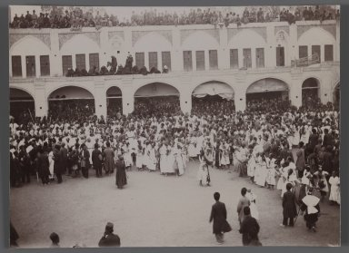 Morning Ceremony,   One of 274 Vintage Photographs, late 19th-early 20th century. Gelatin silver printing out paper, 4 13/16 x 6 9/16 in.  (12.2 x 16.7 cm). Brooklyn Museum, Purchase gift of Leona Soudavar in memory of Ahmad Soudavar, 1997.3.254