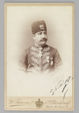 [Untitled], One of 274 Vintage Photographs, 1875 (?). Gelatin silver printing out paper, Photo:  5 1/2 x 4 in.  (13.9 x 10.1 cm);. Brooklyn Museum, Purchase gift of Leona Soudavar in memory of Ahmad Soudavar, 1997.3.98
