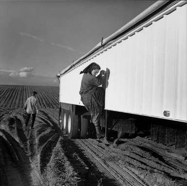 Kristin Capp (American, born 1964). Carol and Eli at Harvest Wash, from The Graven Image Series, Huttertite Work, 1996. Gelatin silver photograph, image: 14 1/8 x 14 in. (35.9 x 35.6 cm). Brooklyn Museum, Gift of the artist, 1997.52.3. © Kristin Capp
