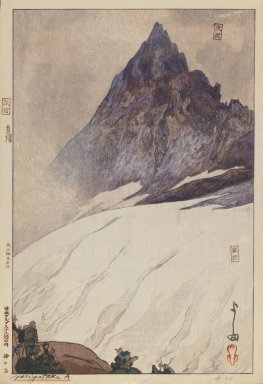 Hiroshi Yoshida (Japanese, 1876-1950). Yarigatake A. Woodblock print on paper, image: 12 3/4 x 9 3/4 in. Brooklyn Museum, Gift of Mrs. William R. Liberman, 1997.60.2. © Estate of Hiroshi Yoshida