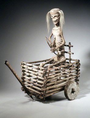 Los Hermanos Penitentes Society. Death Cart, 1890-1910. Wood, hide, hair, pigment, 25 1/4 x 14 x 26 1/2 in. (64.1 x 35.6 x 67.3 cm). Brooklyn Museum, Gift of Mr. and Mrs. Alastair B. Martin, the Guennol Collection, 1997.70. Creative Commons-BY