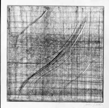 Susan Schwalb (American, born 1944). Traces #2, 1997. Copper-point on paper with ground, image: 7 7/8 x 7 15/16 in. (20.0 x 20.2 cm). Brooklyn Museum, Alfred T. White Fund, 1997.83.2. © Susan Schwalb
