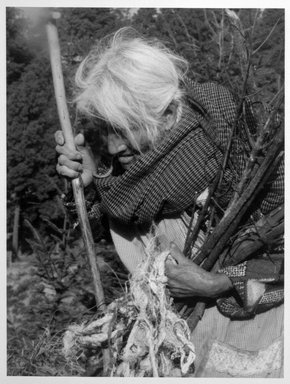Vivian Cherry (American, born 1920). Angangeo (Woman with Sticks), 1995. Chromogenic dye coupler photograph, image: 12 x 9 in. (30.5 x 22.9 cm). Brooklyn Museum, Gift of Steven Schmidt, 1998.10.6. © Vivian Cherry