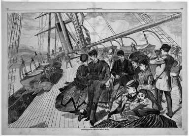 Winslow Homer (American, 1836-1910). Homeward Bound, 1867. Wood engraving, Image: 13 5/8 x 20 1/2 in. (34.6 x 52.1 cm). Brooklyn Museum, Gift of Harvey Isbitts, 1998.105.101