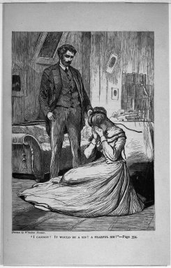 """Winslow Homer (American, 1836-1910). """"I Cannot! It Would Be A Sin! A Fearful Sin!,"""" 1868. Wood engraving, Image: 7 x 5 in. (17.8 x 12.7 cm). Brooklyn Museum, Gift of Harvey Isbitts, 1998.105.117"""