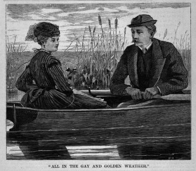 """Winslow Homer (American, 1836-1910). """"All in the Gay and Golden Weather,"""" 1869. Wood engraving, Image: 5 1/2 x 6 1/2 in. (14 x 16.5 cm). Brooklyn Museum, Gift of Harvey Isbitts, 1998.105.128"""