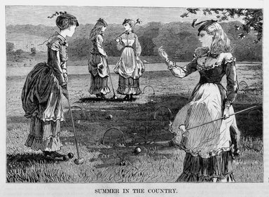 Winslow Homer (American, 1836-1910). Summer in the Country, 1869. Wood engraving, Image: 4 1/2 x 6 1/2 in. (11.4 x 16.5 cm). Brooklyn Museum, Gift of Harvey Isbitts, 1998.105.129