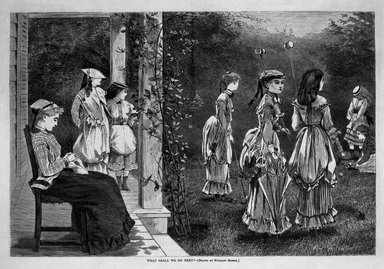 Winslow Homer (American, 1836-1910). What Shall We Do Next?, 1869. Wood engraving, Image: 9 1/8 x 13 3/4 in. (23.2 x 34.9 cm). Brooklyn Museum, Gift of Harvey Isbitts, 1998.105.131