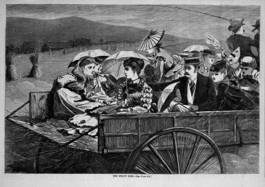 Winslow Homer (American, 1836-1910). The Straw Ride, 1869. Wood engraving, Sheet: 9 3/16 x 13 7/8 in. (23.3 x 35.2 cm). Brooklyn Museum, Gift of Harvey Isbitts, 1998.105.136