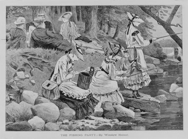 Winslow Homer (American, 1836-1910). The Fishing Party, 1869. Wood engraving, Sheet: 9 x 12 3/4 in. (22.9 x 32.4 cm). Brooklyn Museum, Gift of Harvey Isbitts, 1998.105.138