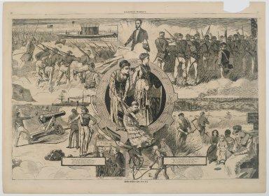 Winslow Homer (American, 1836-1910). 1860-1870, 1870. Wood engraving, Illustration: 13 1/2 x 20 5/8 in.  (34.3 x 52.4 cm);. Brooklyn Museum, Gift of Harvey Isbitts, 1998.105.145