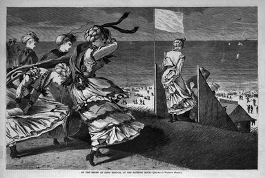 Winslow Homer (American, 1836-1910). On the Bluff at Long Branch, At the Bathing Hour, 1870. Wood engraving, Image: 9 x 13 3/4 in. (22.9 x 34.9 cm). Brooklyn Museum, Gift of Harvey Isbitts, 1998.105.154