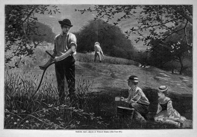 Winslow Homer (American, 1836-1910). Making Hay, 1872. Wood engraving, Image: 9 1/4 x 14 in. (23.5 x 35.6 cm). Brooklyn Museum, Gift of Harvey Isbitts, 1998.105.171