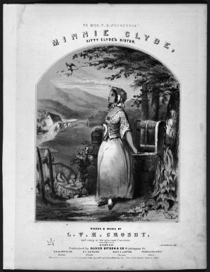 Winslow Homer (American, 1836-1910). Minnie Clyde: Kitty Clyde's Sister, 1857. Lithograph, Sheet: 13 x 11 in. (33 x 27.9 cm). Brooklyn Museum, Gift of Harvey Isbitts, 1998.105.1