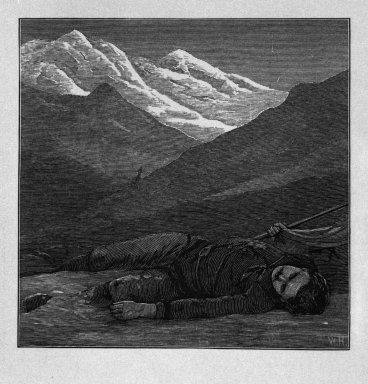 "Winslow Homer (American, 1836-1910). ""There in the twilight cold and  gray, / Lifeless, but beautiful, he lay,"" 1878. Wood engraving, Image: 3 1/8 x 3 1/4 in. (7.9 x 8.3 cm). Brooklyn Museum, Gift of Harvey Isbitts, 1998.105.201"