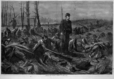 Winslow Homer (American, 1836-1910). Army of the Potomac--Sleeping on Their Arms, 1864. Wood engraving, Image: 13 3/4 x 20 7/8 in. (34.9 x 53 cm). Brooklyn Museum, Gift of Harvey Isbitts, 1998.105.88