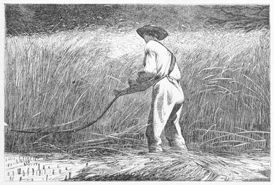 Winslow Homer (American, 1836-1910). The Veteran in a New Field, 1867. Wood engraving, 4 3/16 x 6 1/4 in. (10.6 x 15.9 cm). Brooklyn Museum, Gift of Harvey Isbitts, 1998.105.99