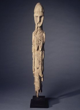 Brooklyn Museum: Grave Marker in the Form of a Female Figure
