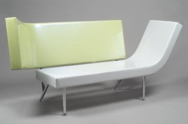 Karim Rashid (Canadian, born Egypt, 1960). Planar Couch, Designed: 1995-1997; Manufactured: 1998. Vinyl, chrome-plated steel, 38 7/8 x 79 3/4 x 33 in. (98.7 x 202.6 x 83.8 cm). Brooklyn Museum, Modernism Benefit Fund, 1998.142. Creative Commons-BY