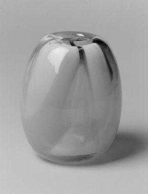 Dominick Labino (American, 1910-1987). Vase, 1974. Glass, 5 1/4 x 4 1/2 x 4 1/2 in. (13.3 x 11.4 x 11.4 cm). Brooklyn Museum, Gift of Emma and Jay Lewis, 1998.147.6. Creative Commons-BY