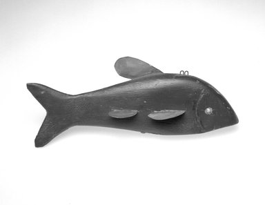 James R. Kelson. Fish Decoy, ca. 1930. Painted wood, metals, 4 3/4 x 11 3/4 x 3 1/4 in.  (12.1 x 29.8 x 8.3 cm). Brooklyn Museum, Gift of the North American Fish Decoy Partners, 1998.148.11. Creative Commons-BY