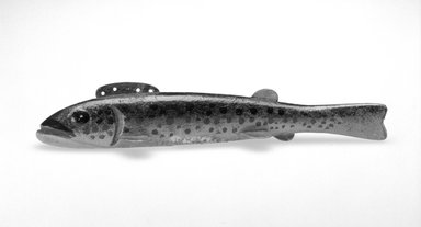 Oscar Peterson. Fish Decoy, Trout, 1940s. Painted wood, metals, 7 1/8 x 1 3/8 x 1 5/8 in.  (18.1 x 3.5 x 4.1 cm). Brooklyn Museum, Gift of the North American Fish Decoy Partners, 1998.148.16. Creative Commons-BY