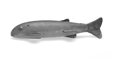 Fish Decoy, 20th century. Painted wood, metals, 2 5/8 x 6 7/8 x 2 3/8 in.  (6.7 x 17.5 x 6 cm). Brooklyn Museum, Gift of the North American Fish Decoy Partners, 1998.148.54. Creative Commons-BY