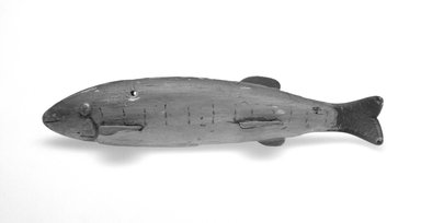 Fish Decoy, 20th century. Painted wood, metal, leather, 6 1/2 x 2 1/8 x 1 3/8 in.  (16.5 x 5.4 x 3.5 cm). Brooklyn Museum, Gift of the North American Fish Decoy Partners, 1998.148.61. Creative Commons-BY