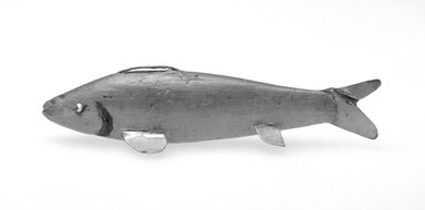 Fish Decoy, 20th century. Painted wood, metal, leather, 4 3/4 x 1 1/8 x 1 1/2 in.  (12.1 x 2.9 x 3.8 cm). Brooklyn Museum, Gift of the North American Fish Decoy Partners, 1998.148.63. Creative Commons-BY