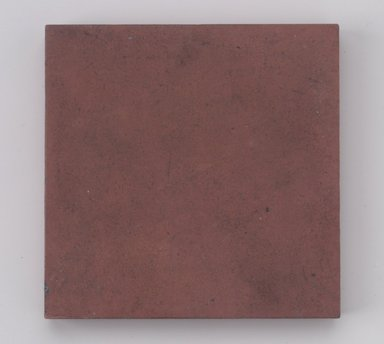 International Tile Company. Tile, 1882-1888. Unglazed earthenware, 1/2 x 4 1/2 x 4 1/2 in. (1.3 x 11.4 x 11.4 cm). Brooklyn Museum, Gift of Susan I. Padwee in honor of Dr. Barry R. Harwood, 1998.149.3. Creative Commons-BY