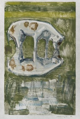 Mary Beth McKenzie (American, born 1946). Catching Frogs, 1998. Monotype on paper, sheet: 20 9/16 x 14 3/4 in.  (52.2 x 37.5 cm);. Brooklyn Museum, Gift of the artist, 1998.161. © Mary Beth McKenzie