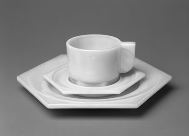 H.P. Berlage. Cup and Saucer, Part of a Breakfast Service, 1924. Glass, cup: 2 1/2 x 4 x 3 in. (6.3 x 10.2 x 7.6 cm). Brooklyn Museum, H. Randolph Lever Fund, 1998.2.2a-b. Creative Commons-BY
