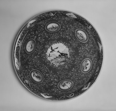Karl L. H. Mueller (American, born Germany, 1820-1887). Tray, ca. 1867. Porcelain, 1 1/4 x 16 1/4 x 16 1/4 in. (3.2 x 41.3 x 41.3 cm). Brooklyn Museum, Marie Bernice Bitzer Fund, 1998.21.1. Creative Commons-BY