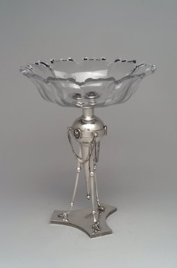 Ball, Black & Company (American, 1851-1876). Compote, ca. 1865. Silver, glass, 10 3/4 x 8 3/4 x 8 3/4 in. (27.3 x 22.2 x 22.2 cm). Brooklyn Museum, Gift of Lauren C. Reddington and Stanley J. Szaro, 1998.24a-b. Creative Commons-BY