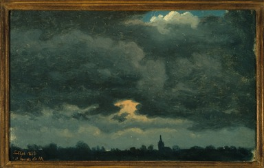 Brooklyn Museum: Stormy Sky over Landscape with Distant Church