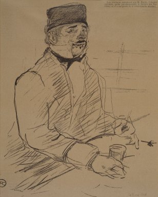 Henri de Toulouse-Lautrec (French, 1864-1901). Baron, from La Rire, 1896. Photo-lithograph on newsprint, 9 7/8 x 7 7/8 in. (25.1 x 20.0 cm). Brooklyn Museum, Gift of Eileen and Michael Cohen, 1998.56.8