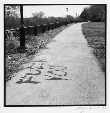 "Anthony Randell (American, born 1961). Marine Park (""Fuck You""), 1995. Gelatin silver photograph on fiber based paper, sheet: 14 x 10 3/4 in. (35.6 x 27.4 cm). Brooklyn Museum, Gift of the artist, 1998.75.1. © Anthony Randell"