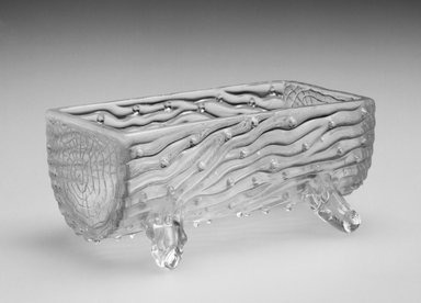 Dish, ca. 19th century. Glass, 2 7/8 x 1 1/2 x 1 1/2 in. (7.3 x 3.8 x 3.8 cm). Brooklyn Museum, Gift of Hattie Forgang, 1998.92.9. Creative Commons-BY