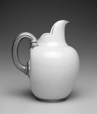 Worcester Royal Porcelain Co. (founded 1751). Pitcher, ca. 1885. Porcelain, 6 x 5 1/4 x 4 1/4 in.  (15.2 x 13.3 x 10.8 cm). Brooklyn Museum, Gift of Allen and Sydell Glass in memory of Edward Komorner, 1998.93.11. Creative Commons-BY