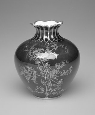 Royal Crown Derby Porcelain Co. (founded 1750). Vase, ca. 1895. Porcelain, 4 x 3 1/2 x 3 1/2 in.  (10.2 x 8.9 x 8.9 cm). Brooklyn Museum, Gift of Allen and Sydell Glass in memory of Samuel and Minnie Jacobs, 1998.93.13. Creative Commons-BY