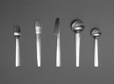 Gerald Gulotta (American, born 1921). Table Spoon, Chromatics Line, Designed 1970; Made 1971-1973. Stainless Steel, 7 1/8 x 2 in.  (18.1 x 5.1 cm). Brooklyn Museum, Gift of the artist, 1998.94.30. Creative Commons-BY