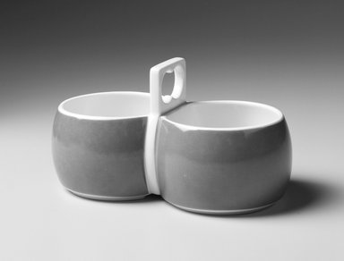 Gerald Gulotta (American, born 1921). Sauceboat, Chromatics Line, Designed 1970; Made 1971-1973. Glazed earthenware, 3 3/4 x 6 3/4 x 3 3/4 in.  (9.5 x 17.1 x 9.5 cm). Brooklyn Museum, Gift of the artist, 1998.94.34. Creative Commons-BY