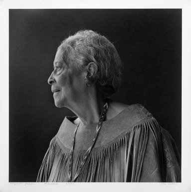 Toba Tucker (American, born 1935). Elizabeth Goodall, Shinnecock, June 9, 1987. Toned gelatin silver photograph, sheet: 20 x 16 in.  (50.8 x 40.6 cm);. Brooklyn Museum, Purchased with funds given by the Horace W. Goldsmith Foundation, Karen B. Cohen, Ardian Gill, and Dr. Joel E. Hershey, 1999.10
