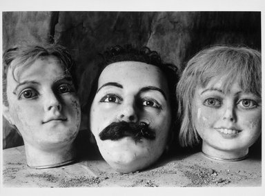 Richard S. Buswell, MD (American, born 1945). Three Mannequin Heads, 1998. Gelatin silver photograph, image: 6 3/4 x 9 3/4 in. (17.1 x 24.8 cm). Brooklyn Museum, Gift of Wallace B. Putnam from the Estate of Consuelo Kanaga, by exchange, 1999.122. © Richard S. Buswell, MD