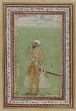 A Mughal Dignitary, ca. 1640. Watercolor and gold on paper, Sheet: 9 1/8 x 6 1/4 in. (23.2 x 15.9 cm). Brooklyn Museum, Gift of Anthony A. Manheim, 1999.136.5