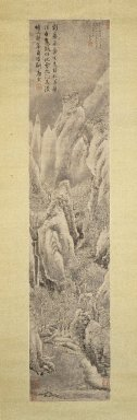 Style of Tang Yin (Chinese, 1470-1523). Snowscape, 1739. Hanging scroll; Ink on paper, Overall: 20 3/4 x 76 7/8 in.  (52.7 x 195.3 cm);. Brooklyn Museum, Gift of Amy and Robert L. Poster, 1999.137.2