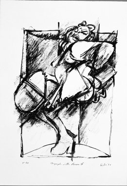 Gerson Leiber (American, born 1921). Nymph with Purses lll, 1990-1991. Lithograph, Sheet: 18 7/8 x 13 3/16 in. (47.9 x 33.5 cm). Brooklyn Museum, Gift of Mr. and Mrs. Gerson Leiber, 1999.146.2. © Gerson Leiber