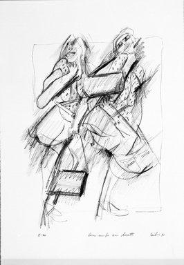 Gerson Leiber (American, born 1921). Due Nimfe con Borsette, 1990-1991. Lithograph, Sheet: 18 15/16 x 13 1/16 in. (48.1 x 33.2 cm). Brooklyn Museum, Gift of Mr. and Mrs. Gerson Leiber, 1999.146.6. © Gerson Leiber